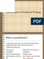 Parallelism in Technical Writing