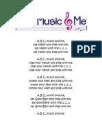 A B C – Music & Me
