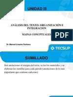 Unidad III y IV Analisis de Textos Sumillado y Mapas Conceptuales