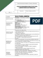 Ficha de Seguridad de La Sulfanilamida