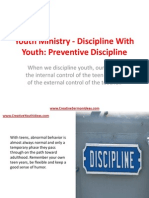 Youth Ministry - Discipline With Youth - Preventive Discipline