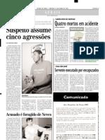 2002.06.09 - Caminhão F 1000 saiu da pista, matando seu motorista - Estado de Minas
