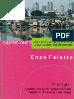 """""""Dimensiones culturales, políticas y económicas del desarrollo"""". Enzo Faletto"""
