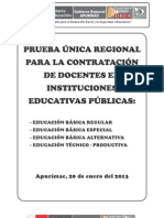 Prueba Unica Regional Contrato 2013 - Apurimac