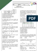 Ficha de exercícios_Equílibrio Iônico - FICHA 2 DE QUÍMICA