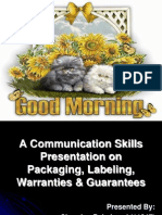 Presentation on Packaging, Labeling, Warranties and Guarantees