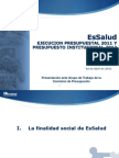 EsSalud Presupuesto 2012