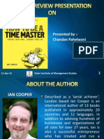 Book Review on How to Be a Time Master