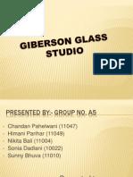 Case Study on Giberson Glass Studio
