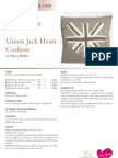 Union Jack Heart Cushion With Bs Blogo