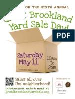 Great Brookland Yard Sale 2013