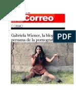 Gabriela Wiener, la blogger peruana de la pornografía