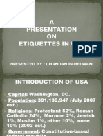 Presentation on Etiquettes in USA