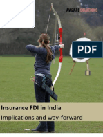 Insurance FDI in India - Implications and Way Froward