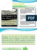 """Mortgages For the Rest of Us"" by Mario Renda"