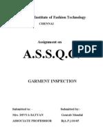 Garment Inspection Report