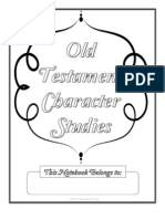 Old Testament Character Study Notebooking Pages