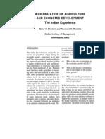 Modernization of Agriculture and Economic Development