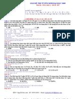 Giải chi tiết đề thi hoá 2009(hay lắm!)