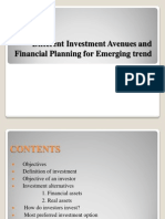 Different Investment Avenues and Financial Planning for Emerging