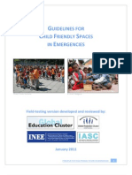 Child-Friendly Spaces - Guidelines for Field Testing.