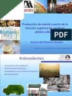 Producción de etanol a partir de la fracción  orgánica Aymara Ramirez