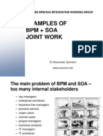 examples of BPM+SOA Joint work