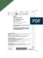 65407130 16016548 Edexcel GCE Core Mathematics C4 666601 Advanced Subsidiary Jun 2006 Question Paper