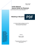 Modeling of Beryllium Corrosion Anrc9930 1999