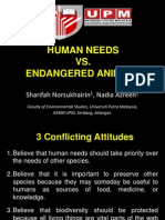 Human Need vs Endangered Animals Presentation