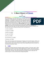 A Short History of Metals