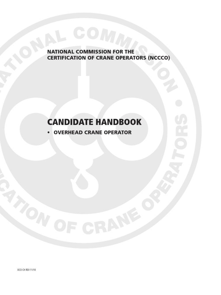 Overhead Crane Operator Handbook | Professional