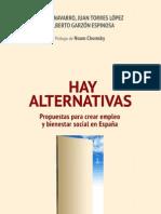 Hay alternativas_ Vicenç Navarro y Alberto Garzón