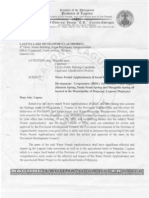 Letter Dated March 25, 2013 (LLDA)