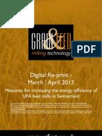 Measures for increasing the energy efficiency of UFA feed mills in Switzerland