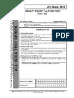 Concept Recap Test Mains 4