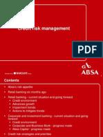 31-05-2007 Investor Seminar - Credit Risk Management (1)