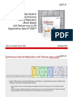 Open-E DSS Synchronous Volume Replication With Failover Over a LAN August 2009