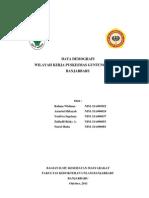 Data Demografi Pkm Guntung Payung
