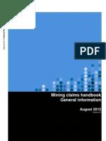 Mining Claim Handbook General