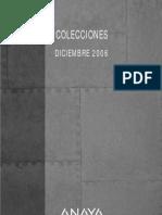 Colecciones Anaya_Dic. 2006