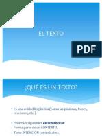 EL TEXTO Y SUS PROPIEDADES- COHERENCIA Y COHESIÃ-N.ppt