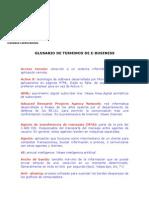 Glosario de Terminos E-Business