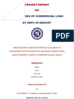 Project Report HDFC Loan