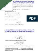 Interpolacion Newton