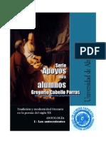 Antología de poemas. Antecedentes