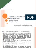 Anulação de Operações Orçamentárias e bens Patrimoniais - Aula 11