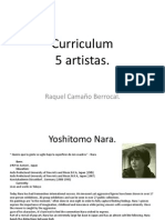 Curriculum 5 Artistas
