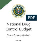 Fy 2014 Drug Control Budget Highlights 3