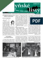 Radyňské Listy, Starý Plzenec, Duben 2013